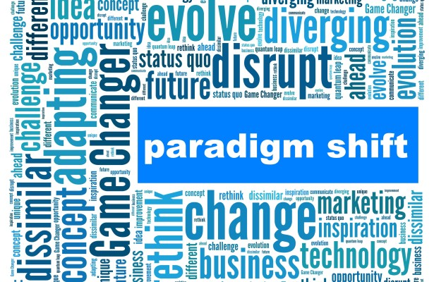 Disruption leads to paradigm shifts
